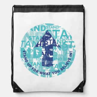 'Stand Up' Drawstring Backpack