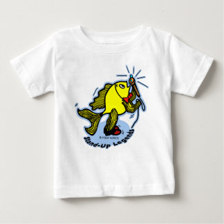 Stand-Up Fish funny cartoon Baby T-Shirt