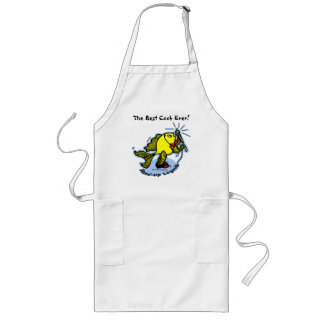 Stand-Up Fish funny comic cartoon Apron