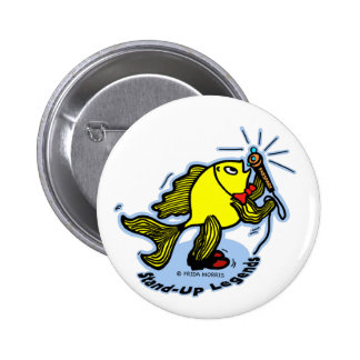 Stand-Up Fish funny comic cartoon 6 Cm Round Badge