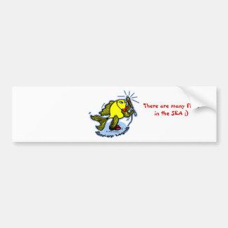 Stand-Up Fish funny comic cartoon Bumper Sticker
