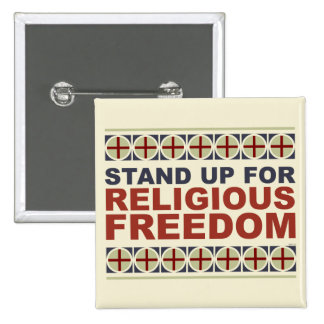 Stand Up For Religious Freedom 15 Cm Square Badge