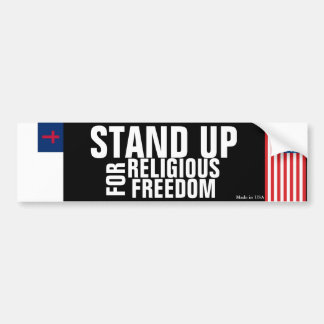 Stand Up for Religious Freedom Bumper Sticker