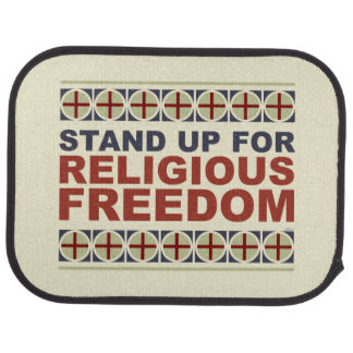 Stand Up For Religious Freedom Car Mat