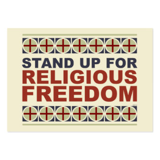 Stand Up For Religious Freedom Pack Of Chubby Business Cards