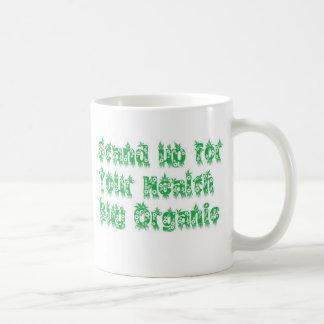 Stand up for your health buy organic basic white mug