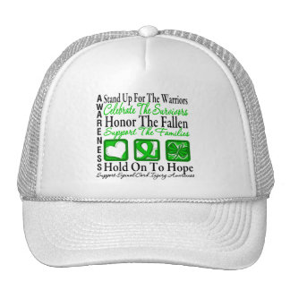 Stand Up Honor Collage Spinal Cord Injury Trucker Hats