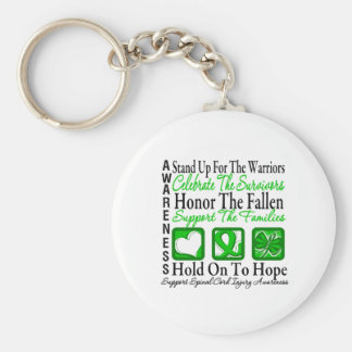 Stand Up Honor Collage Spinal Cord Injury Keychains