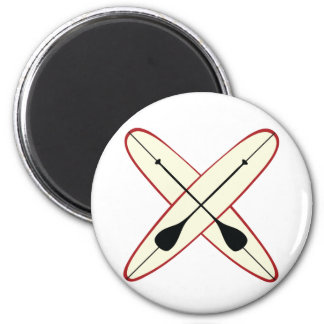 Stand Up Paddle 6 Cm Round Magnet