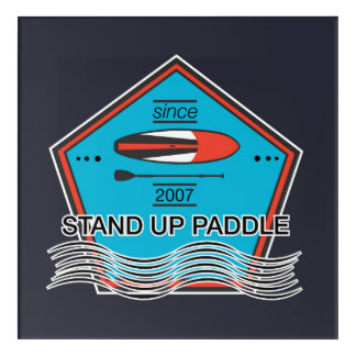 Stand Up Paddle Poster Acrylic Print