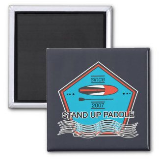 Stand Up Paddle Poster Square Magnet