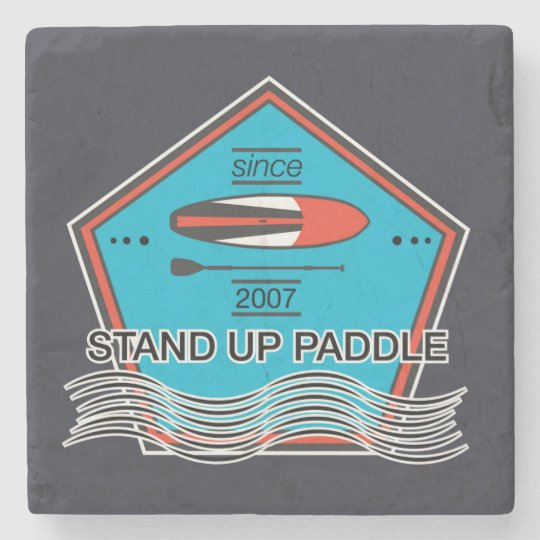 Stand Up Paddle Poster Stone Coaster