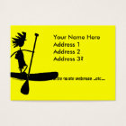 Stand Up Paddle Silhouette Design Business Card