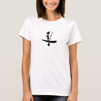 Stand Up Paddle Silhouette Design T-Shirt