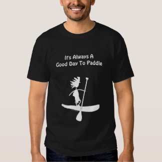 Stand Up Paddle Silhouette Design Tees