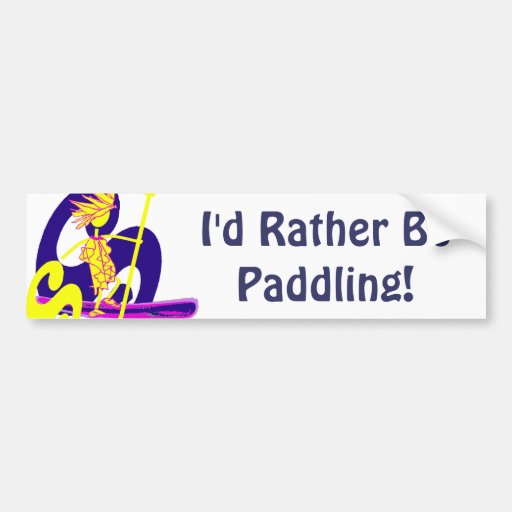 Stand Up Paddle Surf Bumper Stickers