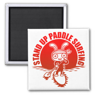 Stand up paddle surfing magnets