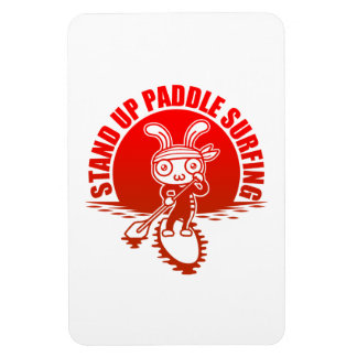 Stand up paddle surfing rectangular magnets