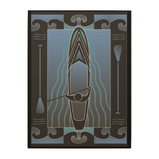 Stand Up Paddleboarder Wood Wall Decor