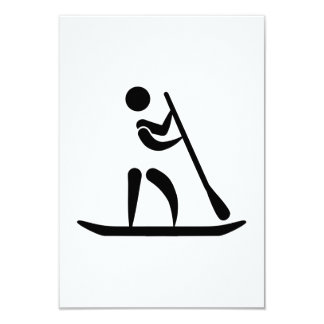 Stand up paddling 9 cm x 13 cm invitation card