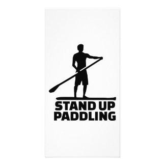 Stand up paddling custom photo card