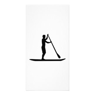 Stand up paddling picture card
