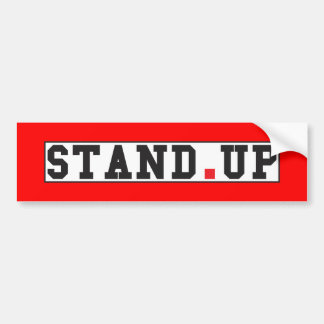 stand up text message emotion feel red dot square bumper sticker