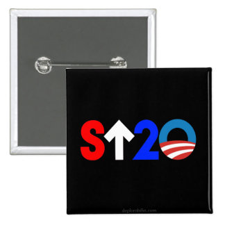 Stand up to Obama 15 Cm Square Badge