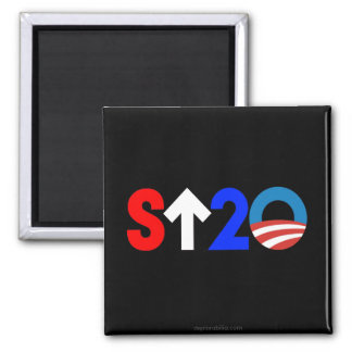 Stand Up to Obama Square Magnet