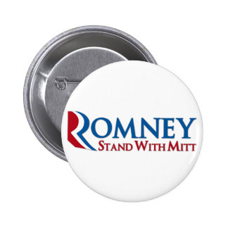 Stand with Mitt Romney Button
