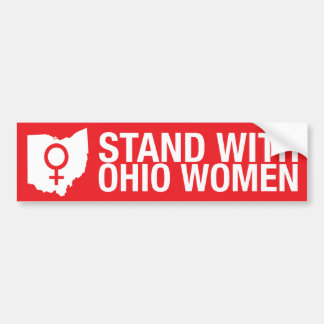 Stand with Ohio Women-Bumper sticker Bumper Sticker