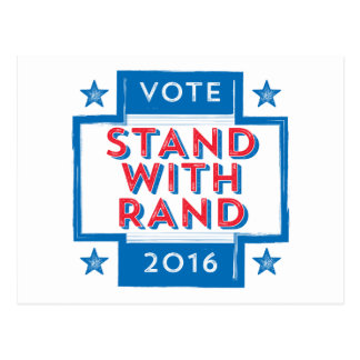 Stand with Rand 2016 Postcard
