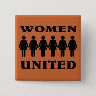 Stand with Women. 15 Cm Square Badge
