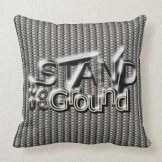 STAND YOUR GROUND on In-Line Dots Throw Pillow
