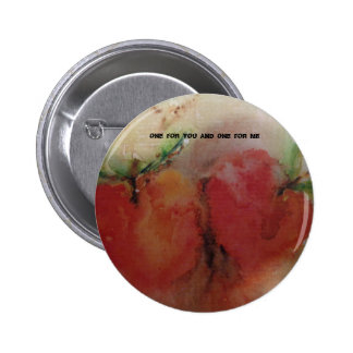 Standard 2 1/4 inch Button with Apples