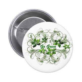 Standard 2 1/4 inch Round Button Go Green