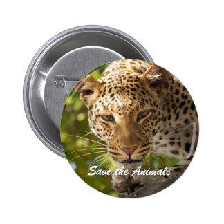 Standard 2 1/4 inch Round Button Save the Animals