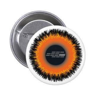 Standard, 2¼ Inch Round Button CHAOS SUN