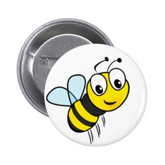 Standard, 2¼ Inch Round Button honey bee