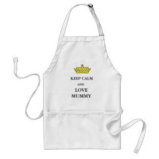 Standard all cotton apron~KEEP CALM and LOVE MUMMY Standard Apron