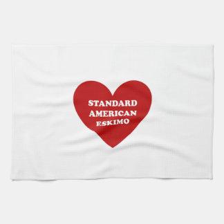 Standard American Eskimo Dog Hand Towels
