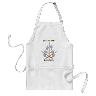 Standard Apron three crossed battle axes print