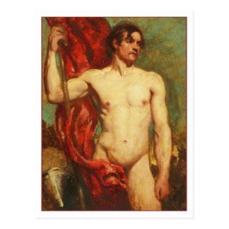 Standard Bearer by William Etty Postcard