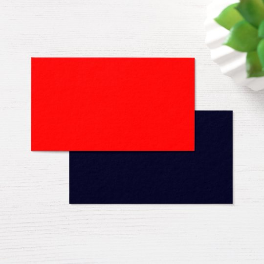 Standard Business Card Red-Dark Blue