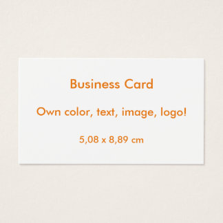 Standard Business Cards uni White ~ Own Color