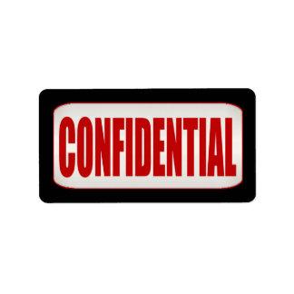 Standard Business Confidential Medium Label