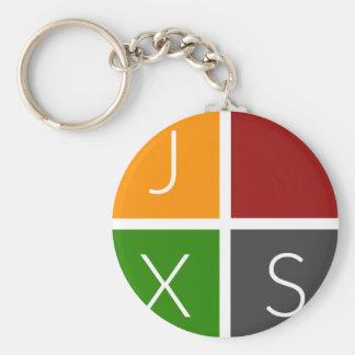 Standard Chain | JXS Logo Basic Round Button Key Ring