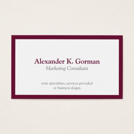 Standard classic burgundy border solid profession