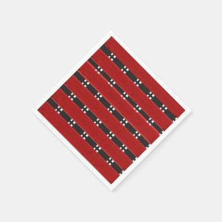 Standard Cocktail RED/BLACK BARS Paper Serviettes