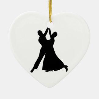 Standard dancing ceramic heart decoration